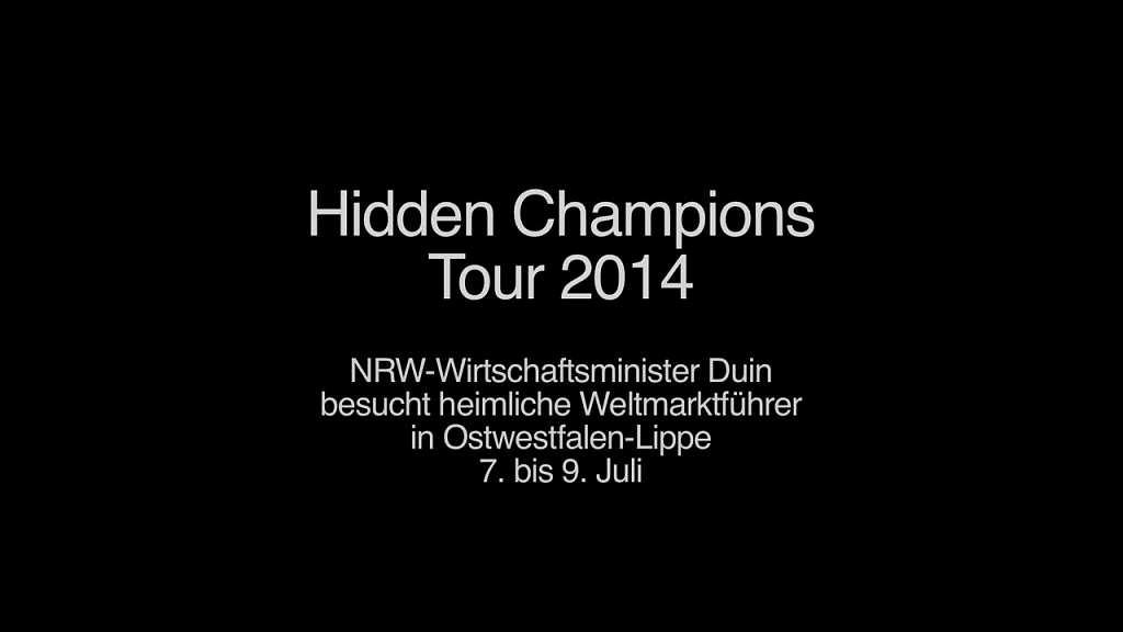 Hidden Champions Tour 2014